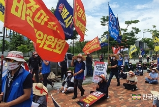'말산업' 고사위기...대책마련 촉구 '뙤약볕 시위'